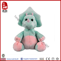 Stuffed plush triceratops dinosaur kids toy