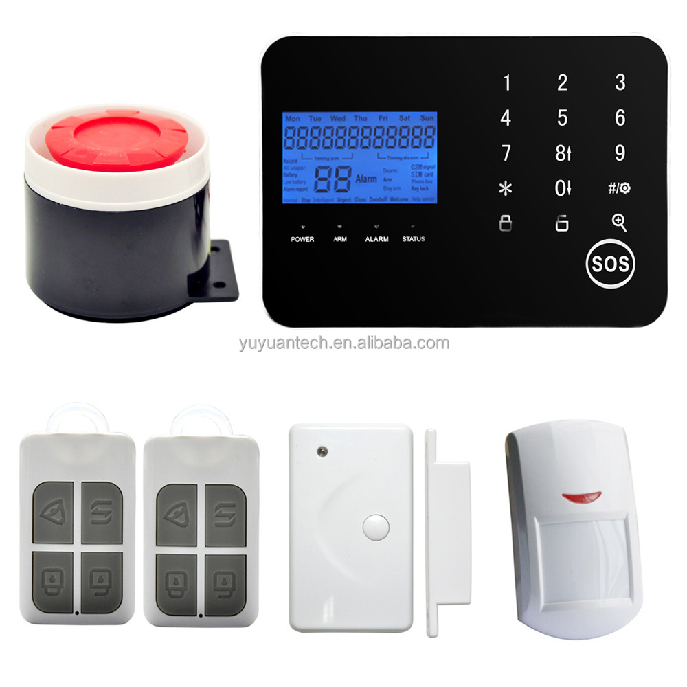 Newest model auto-dial Gsm home security alarm smart sms GSM alarm system