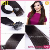 Alibaba express new products thick end 30 inch micro ring hair extensions for black women