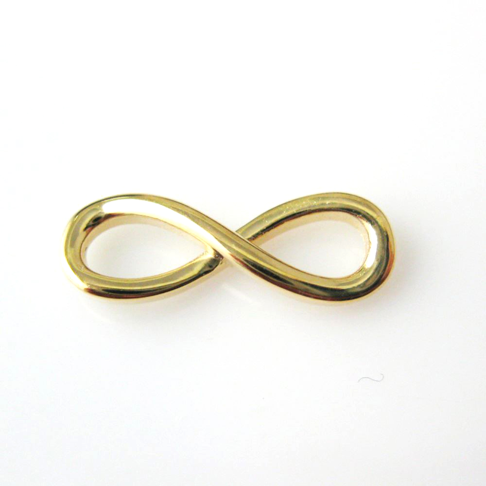 Wholesale women 18K gold plated infinity charm for anniversary