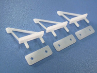 RC Aircraft Parts 2pcs/pack 23*14*6mm White Plastic Mini Ultra Light Horns Foam / KT Aircraft DIY special use
