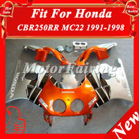 Fairings for Honda CBR250RR MC22 1991-1998 CBR 250RR 91 92 93 94 95 96 97 98 CBR250R fairing kit1991-1998 silver orange black