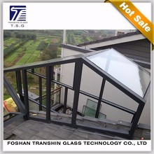 Tempered laminated glass roof/wall glass for glass house China suppliers