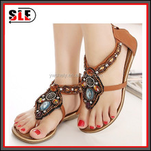 Shiny rhinestone sexy summer sandal high class Bohemian sandals for women