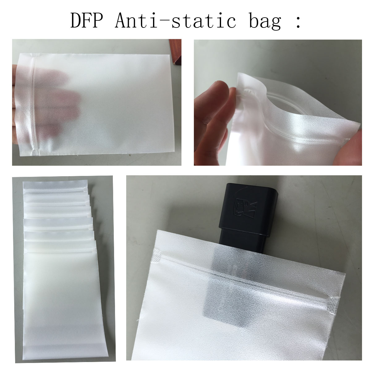 Elegant outlook zip/zipper packaging poly bag for electronic products protection