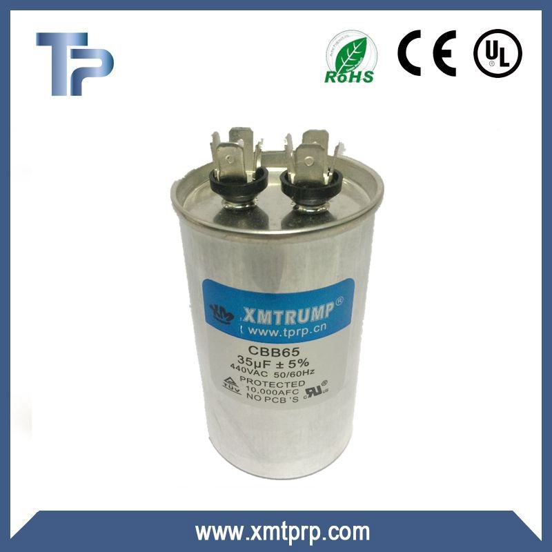 China Trump Polypropylene Air conditioner CBB65 capacitor
