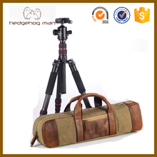 Real leather waxed canvas Waterproof Durable Tripod Bag / DSLR Camera Accessories