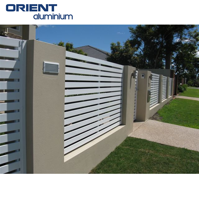 aluminium horizontal fence panels