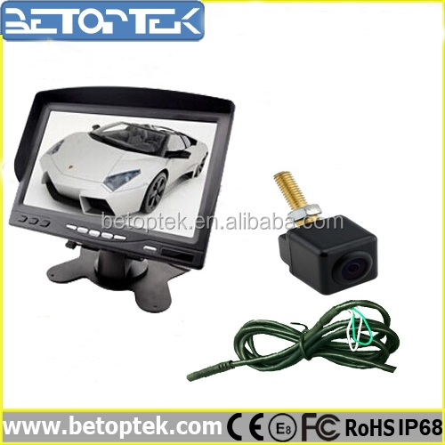 Betoptek Factory Supply 7 inch LCD Backlight Monitor Rear View Camera Installation Cost