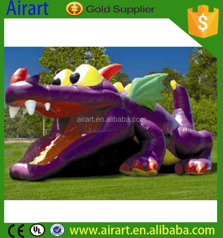 Beautiful and grand pink purple inflatable giant dragon with good advertising