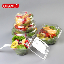 multifunctional salad bowl, round clear plastic bowl,disposable plastic salad bowl with lid