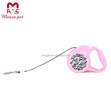 hot sale pet collar ABS material retractable dog leash