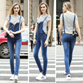 2018 Summer Fashion Suspender Denim Jumptsuit For Women
