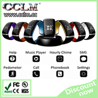 LED Smart Bracelet Watch Bluetooth 3.0 Pedometer/ Anti-lost/ Sync Music for Samsung HTC Huawei Android Smartphones