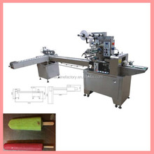 Automatic ice lolly cream stick flow packing machine