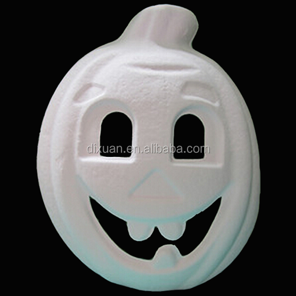 White pulp masks white modle halloween pumpkin mask diy