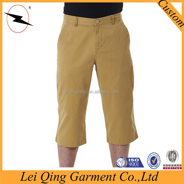 Fashionable 3/4 chino men short pants in bulk