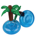 free sample Palm tree float inflatable beach drink holder floating cup holder