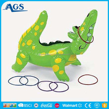 Amusing animal and ring game play inflatable toy