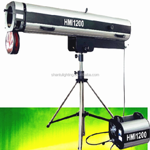 Steady Professional Zooming Stage Lighting 1200W Follow Spot Light With Flycase