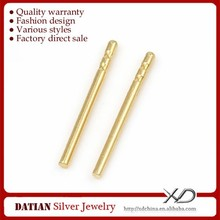 XD K035 Real 18K Gold Earring Studs Ear Pin Stud from China