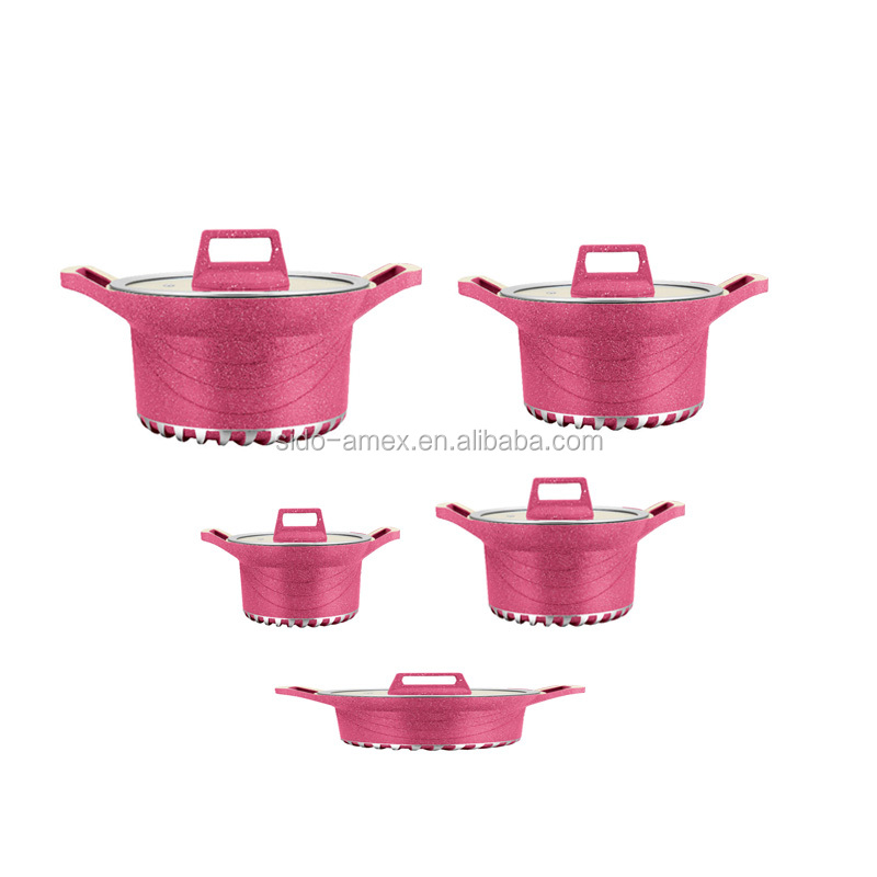 2017 New Die Casting Aluminum Ceramic Cookware Set