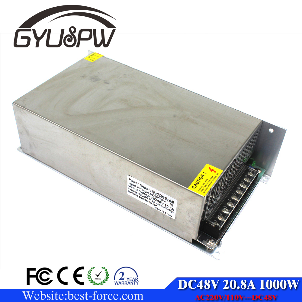 1000W 48V 20.8A Small Volume Single Output Switching Power Supply Transformers 110V 220V AC TO DC SMPS for LED Strip Light CNC