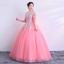 2018 L&Z Wholesale Flowers Sexy Long Sleeve Prom Dress