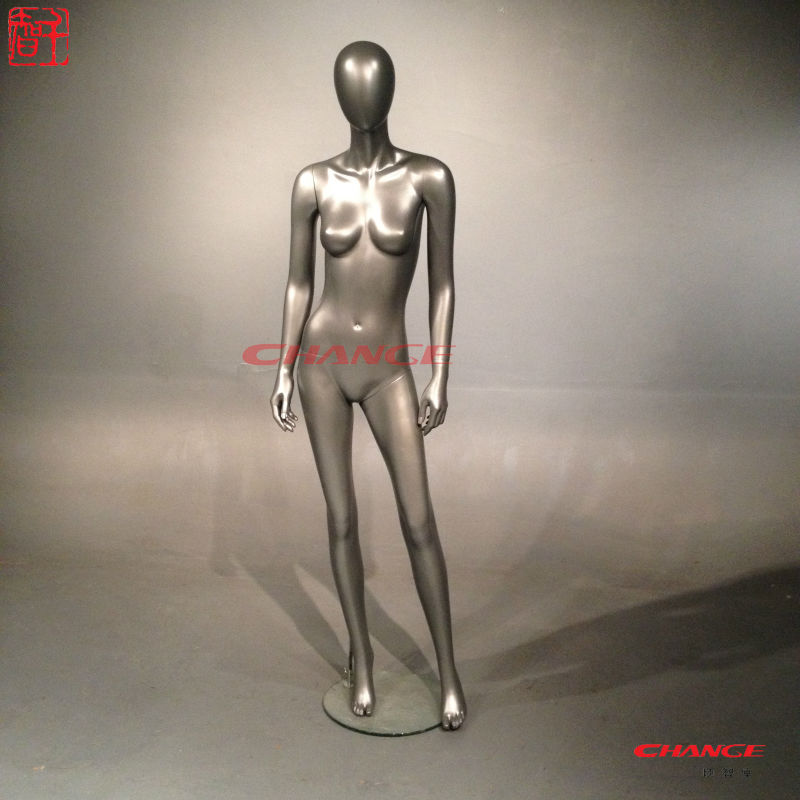 Sexy lifelike silver real mannequin doll
