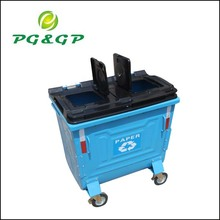 galvanized metal trash container for school