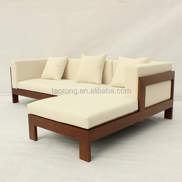 Simple design 2 seat wooden sofa bed so 481 view wooden for Bed design images