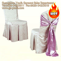 100% polyester nonwoven chair cover round top chair cover