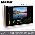 Super thin light weight 5.5 inch waveform IPS display 1920*1080 high resolution 3G SDI input lcd monitor for camera