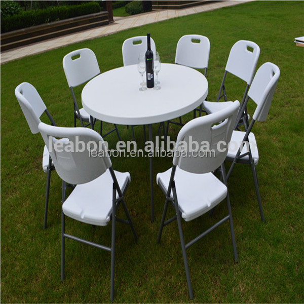 5FT round plastic folding dinner table