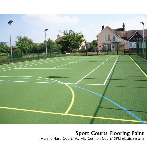 SPU sports tennis basketball volleyball court flooring coating