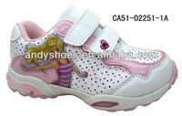 Cartoon design girls quality running shoes for 2013 'new with LED light