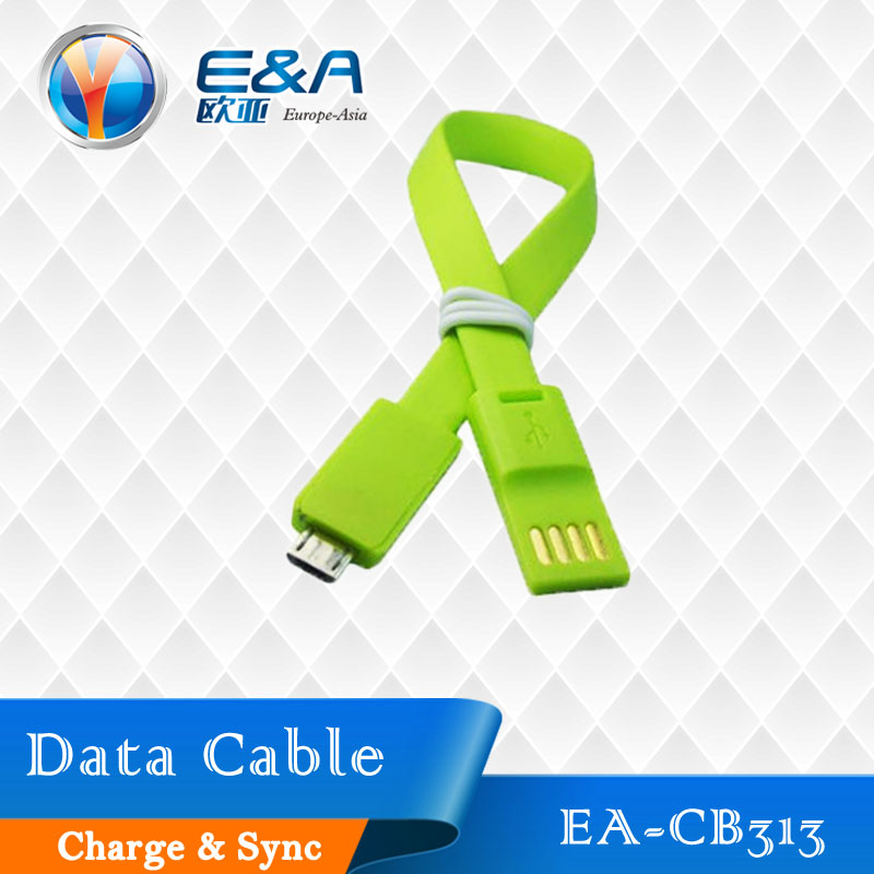 Factory price micro usb 2.0 20cm TPE flat data cable for android smartphone