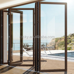 Glass panel aluminum folding door/ bifold door