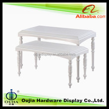 white hot selling offic tabl, wood fittings for shop retail store
