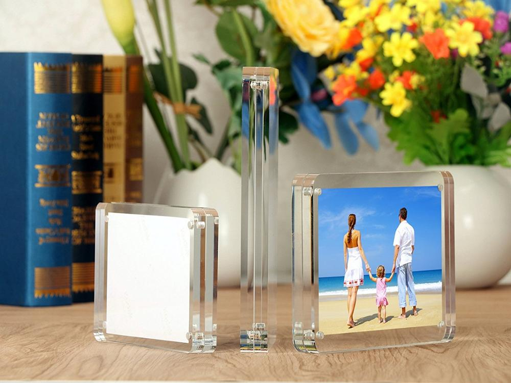 5x5 Customized acrylic magnetic picture frame acrylic photo frame