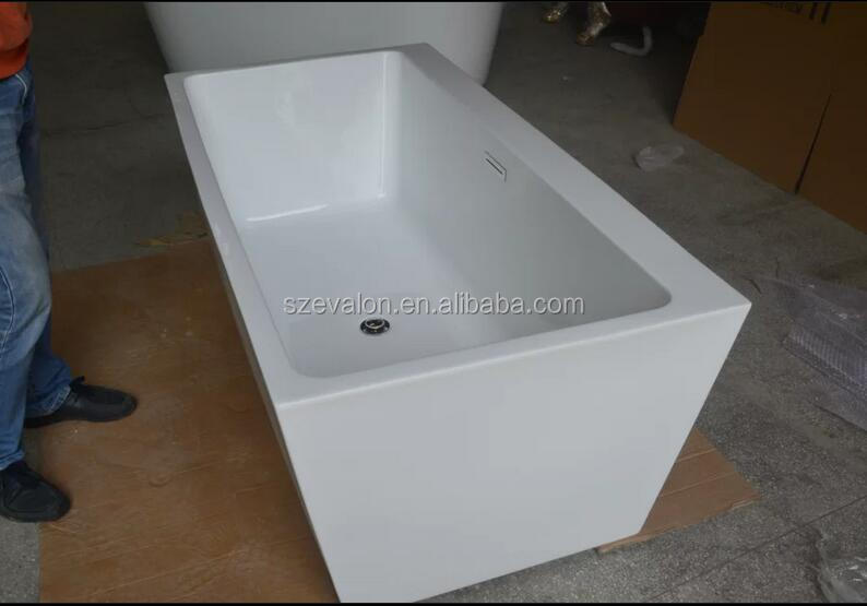 Free standing composite stone resin bath tub / solid surface bathtub, message bath tubs