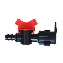 PC/POM plastic mini agriculture irrigation water valve for drip line and drip tape