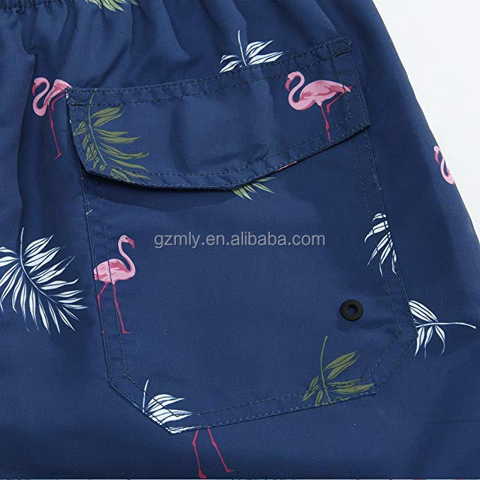 High quality custom Boardshorts 4 way stretch sublimation printed men beach shorts swim trunks for sale