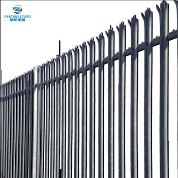 garden safety 'W' section palisade security fencing