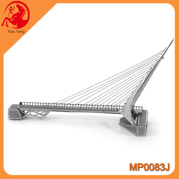 Fashion 3d metal wire Sundial Bridge Design puzzle IQ metal jigsaw puzzle cast metal puzzles