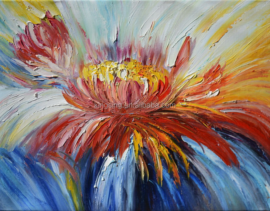 100 handpainted modern abstract oil painting flowers on for Modern oil painting ideas