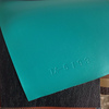 Greenish Blue Smooth Synthetic Leather Products