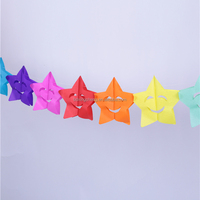 Baby shower hanging star paper garland decoration for kids room