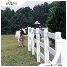 Fentech White Plastic Post and Rail Fencing for Paddocks or animal enclosures