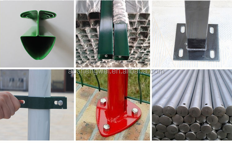 PVC coated security cheap backyard metal fence
